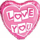 18 Inch Mylar Love N Kisses Heart Balloon