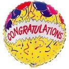 18 Inch Mylar Congratulations Balloon