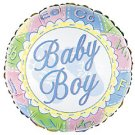 18 Inch Mylar Baby Boy Footprints Balloon