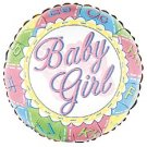 18 Inch Mylar Baby Girl Footprints Balloon