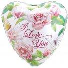 18 Inch Mylar I Love You Pink Rose Heart Balloon