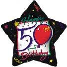 Happy 50 Birthday Star Balloon 18 Inch Mylar