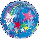 Blue Congratulations Stars Balloon 18 Inch Mylar
