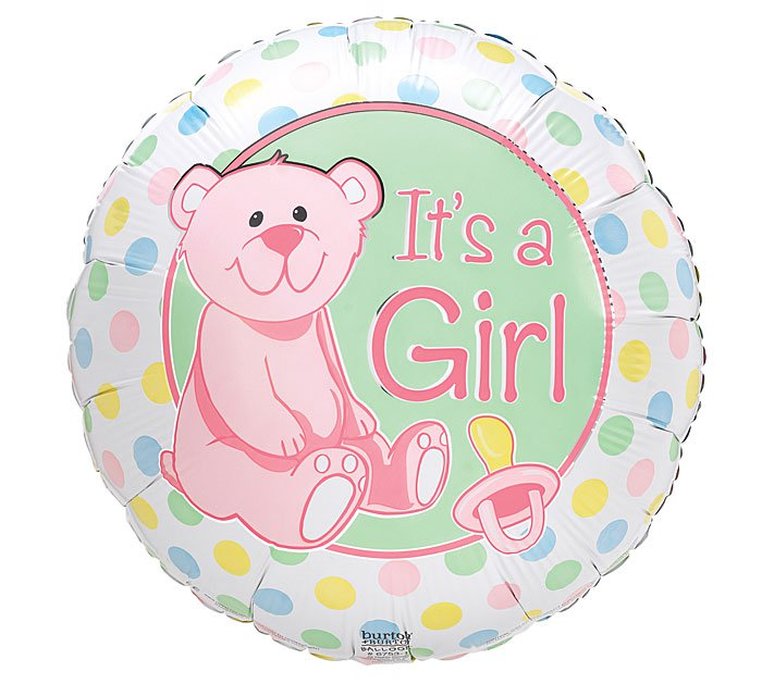 Baby Darlin Dots Its a Girl Balloon 18 Inch Mylar