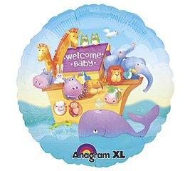 Welcome Baby Noahs Ark Balloon 18 Inch Mylar