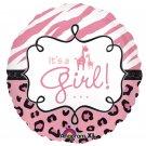 Its a Girl Safari Balloon 18 Inch Mylar