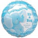 Congratulations Its a Boy Elephant 18 Inch Mylar Balloon