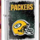 NFL Personalized Brushed Chrome Zippo Lighter Packers