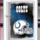NFL Personalized Brushed Chrome Zippo Lighter Colts