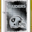 NFL Personalized Brushed Chrome Zippo Lighter Raiders
