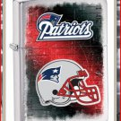 NFL Personalized Brushed Chrome Zippo Lighter Patriots