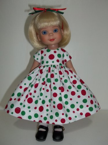 Christmas Dots in July Dress for Ann Estelle, Patsy 10""