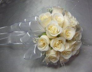 Wedding Ivory Rose Bridal Bouquet