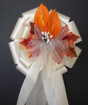 IVORY/Fall Autumn Pew Bows - Wedding Decorations