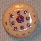 Vintage Lucite Rhinestone Earrings in Pinks