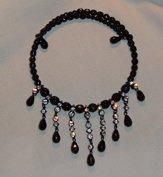 Avon Vintage Necklace Rhinestones with Black Finish