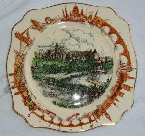 Windsor Castle Porcelain Plate, by AJ Wilkinson-Exc Cond