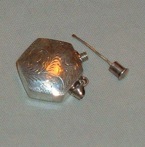 Vintage Sterling Silver Pendant - Perfumer