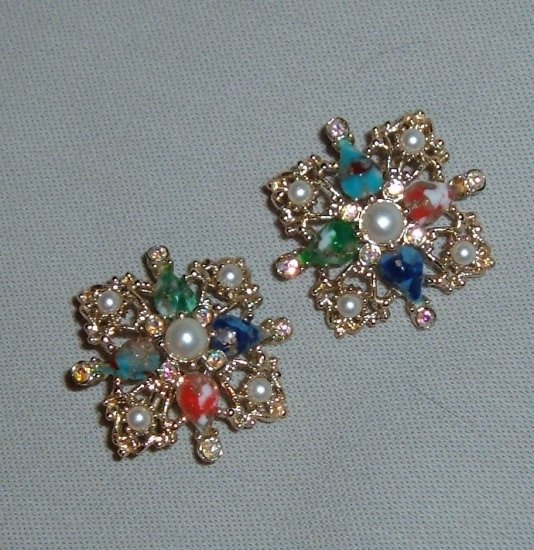 """Vintage Sarah Coventry """"Galaxy"""" Earrings"""