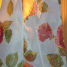 Vintage Nylon Sheer with Roses - 2 3/4 Yards
