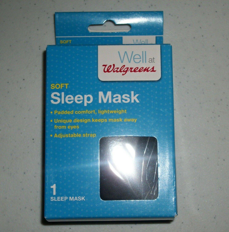 Soft Black Padded Sleep Mask With Adjustable Strap