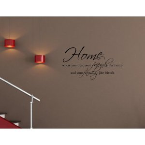 Wall Art decals home decor vinyl letters Friends Family Love ...