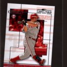 2004 donruss timeline jim thome #25 game used jersey card