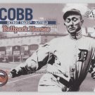 03 flair greats ball park heroes ty cobb #bh4 card tigers