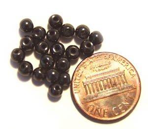 25 Magnetic Hematite Beads 4mm