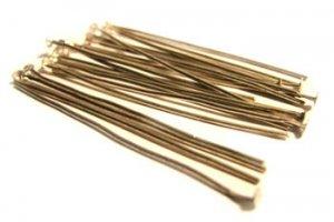 20 Silver plated Headpins / Head Pins 5mm