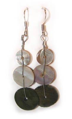 Handmade Earrings #10 - Motherpearl Beads