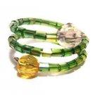 Handmade Ring #5 - Green Seed Beads