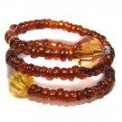 Handmade Ring #6 - Brown Beads