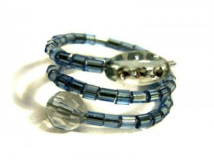 Handmade Ring #7 - Blue Beads