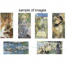 Impressionist Art domino size rectangles digital collage sheet