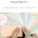 Fujifilm Instax Mini Polaroid 7s 8 25 50s 90 Film Skin Sticker Frame 20 pcs/pack Milky