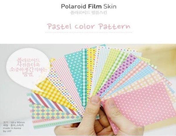 Fujifilm Instax Mini Polaroid 7s 8 25 50s 90 Film Skin Sticker Frame 20 pcs/pack Pastel