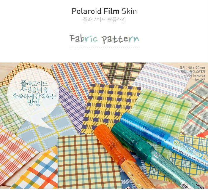 Fujifilm Instax Mini Polaroid 7s 8 25 50s 90 Film Skin Sticker Frame 20 pcs/pack Fabric