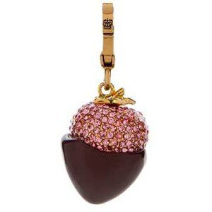 JUICY COUTURE RARE VINTAGE CHOCOLATE STRAWBERRY CHARM brand new in box