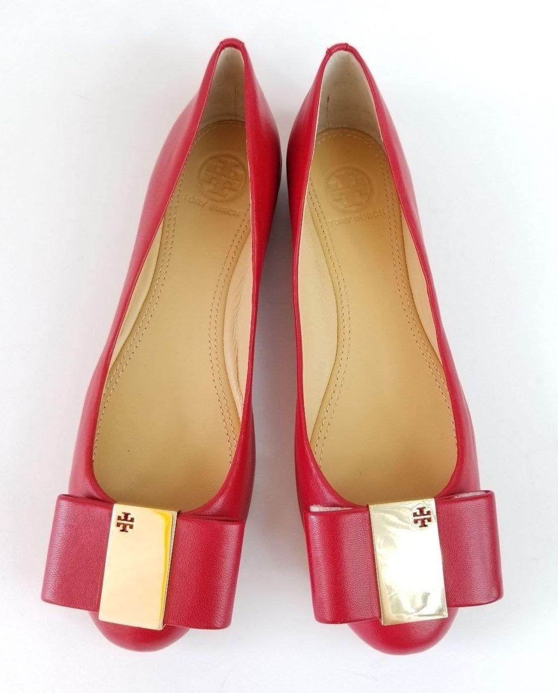 Tory Burch Chase Ballet Flat Matte Glove Nappa Brand NEW in box