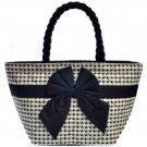 Naraya Thailand Cotton Art Brand Bow Cotton Boat Shape Handbag Brand New