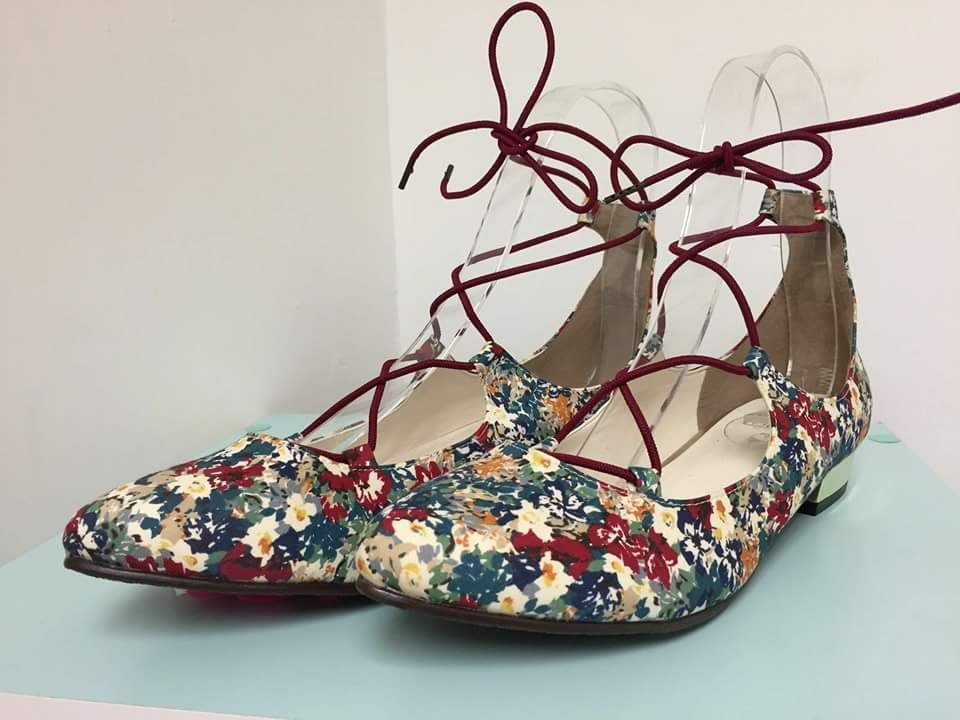 Jelly Beans Japanese Brand Flowery Pointed Ballerinas Flat