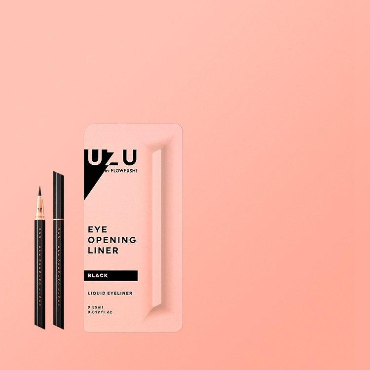 Japan makeup Flowfushi UZU Eye Opening Liner Liquid Eyeliner (Black)