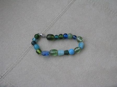 Seaglass colored bracelet