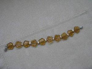 Amber Flower Bracelet
