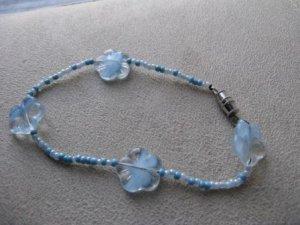 Blue Flower Bracelet