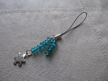 Puzzle Piece Cell Phone Charm