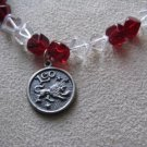 Red and Clear Leo Necklace