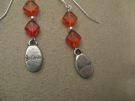 Orange Believe Earrings