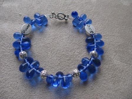 Blue Teardrop Power & Change Bracelet